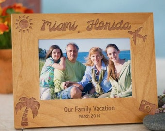 Personalized Our Vacation Picture Frame
