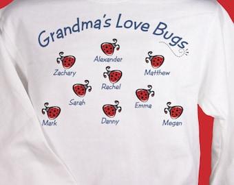 Personalized Love Bugs Sweatshirt