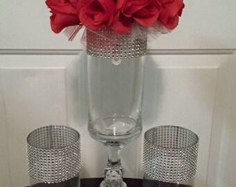 Decorative vases/Centerpieces/ Rhinestone vases