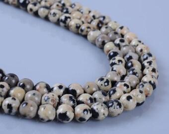 "4MM330 4mm Dalmatian round ball loose gemstone beads 16"""