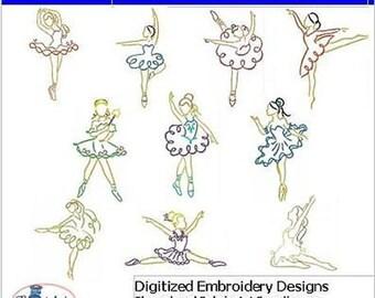 Embroidery Design CD - Beautiful Dancer(1) - 10 Designs - 9 Formats - Threadart