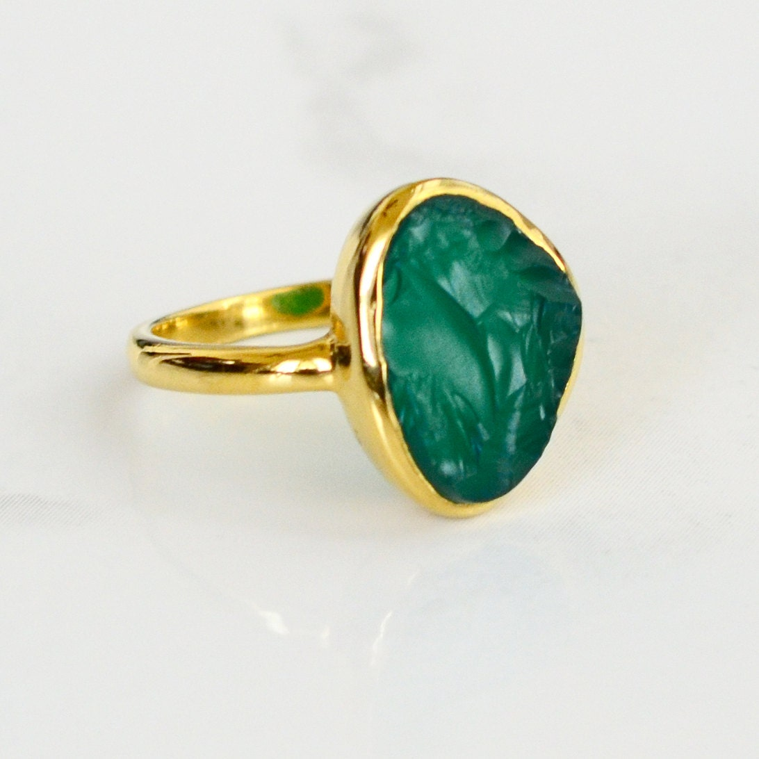 Green Onyx Rings Emerald Green Raw Stone Ring Rough Stone. Owns Wedding Rings. Colourful Rings. 1ct Diamond Engagement Rings. Silicone Engagement Rings. Modern Bride Wedding Rings. Modest Wedding Rings. Agate Rings. Bespoke Wedding Rings