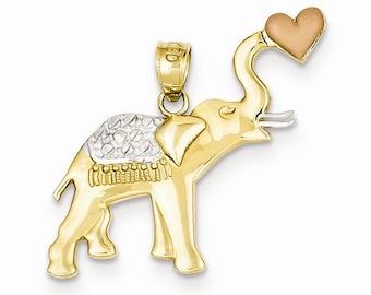 Elephant W/Heart Pendant