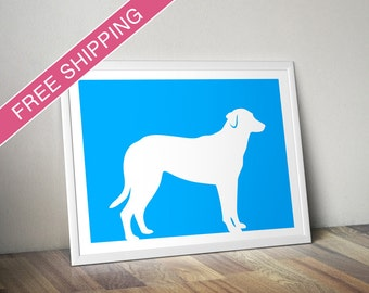 Beauceron Print (Natural Ears) - Beauceron Silhouette - Beauceron art, dog wall art, dog gift