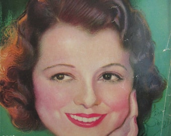 Original December 1932 Janet Gaynor Photoplay Magazine Cover By Earl Christy - Hollywood's Golden Age - Free Shipping