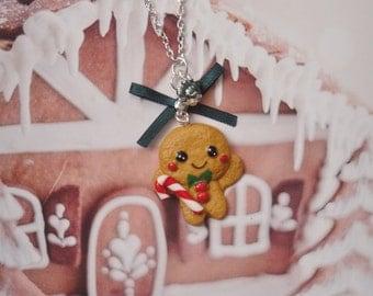 necklace kawaii gingerbread