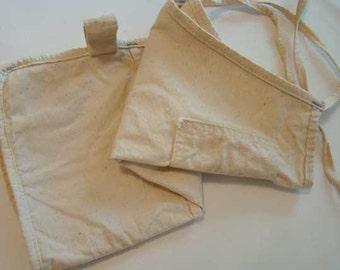 Vintage canvas tool apron, construction apron, vintage work apron, Carpenter's apron