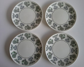 4 Taylor, Smith and Taylor Dinner Plates, Summer Morn.
