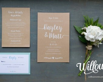 Love & Heart Wedding Invitations