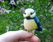 Needle felt birds, blue bird, felt toys, handmade toys, Bird Lover Gifts, MADE TO ORDER