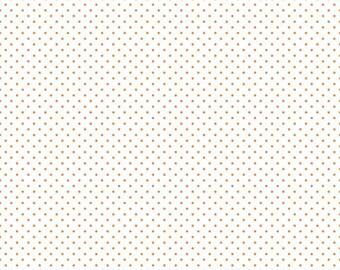 NEW -- Orange Swiss Dot on White Yardage C660-60 Orange  by Riley Blake Designs