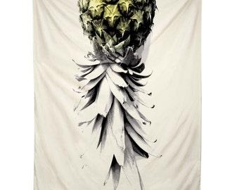 Tapestry- Pineapple 1, ocean, hawaii, surf, beach, wall hanging, deb haugen