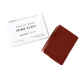 SPA GIFT. Pink Clay Soap. Organic Skin Care. All skin types. Handcrafted.