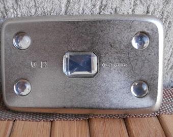 Vintage Modernist Scandinavian BUCKLE, Zinn Aluminum BELT BUCKLE, Hard to Find, Hallmarked,Early 70's