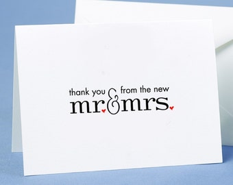 50 X Wedding Thank You Cards With Envelopes From The New Mr & Mrs, Free Postage Australia Wide