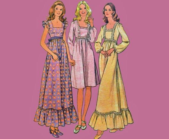 Empire waist maxi dress patterns