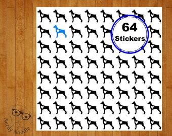 Doberman Planner Stickers, 64, Doberman Stickers, Doberman Sticker Set, Doberman Envelope Seals, Doberman Envelope Stickers, Doberman
