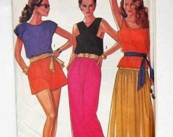 Misses Top Pants Skirt Trousers Shorts UNCUT & Plus Sizes 8-10-12-14-16-18 New Look 6140 Misses Sewing Pattern
