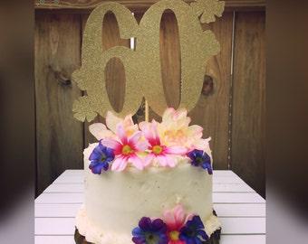 60th birthday, 60th birthday cake topper, 60, birthday, birthday decor, birthday decorations, 60th birthday decorations, cake topper