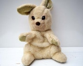Rare Vintage Original A Golden Bear Quality Product Made in England Soft Plush Hand Puppet Rabbit