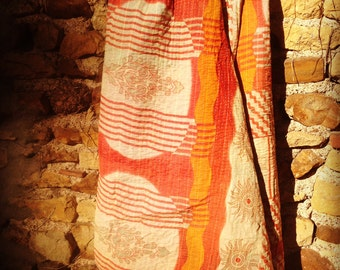 Plaid - vintage Kantha