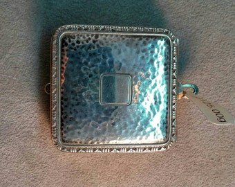 Sterling Silver Art Deco Compact Box Marked Webster Hand Chased Beauty