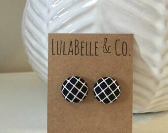 Fishnets Button Earring