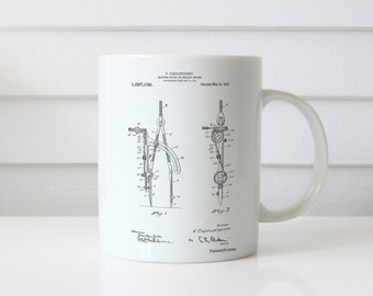 Drafting Compass 1912 Patent Mug, Architect Gift, Drafting Tools, Office Decor, College Student Gift, PP0785