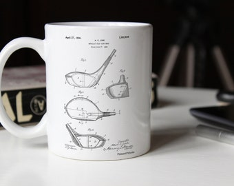Golf Driver 1925 Patent Mug, Golf Club, Sports Mug, Golf Mugs, Office Mug, Golf Gifts, PP0009