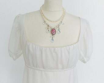 Regency Dress 1800  Empire Gown Jane Austen EMMA Dress  Wedding Gown Period reproduction