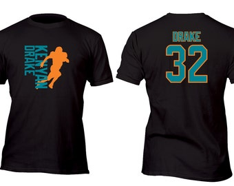 Limited Edition Black Dolphins Drake Football Shirt All sizes up to Plus 5x
