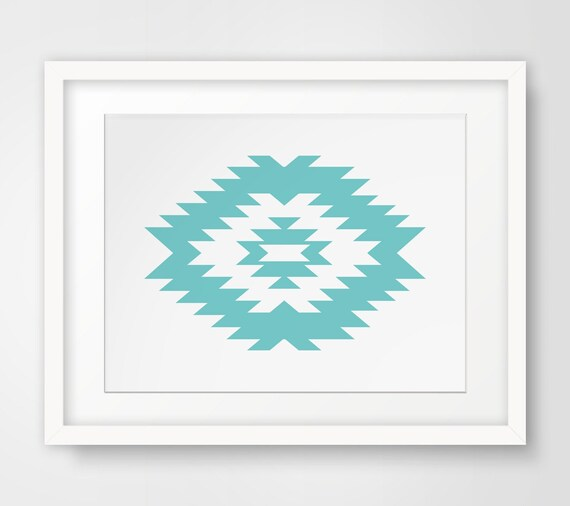 Teal Color Wall Decor : Items similar to teal wall art decor southwest
