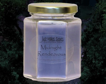 Midnight Rendezvous Scented Blended Soy Candle -  Free Shipping on Orders of 6 or More With Coupon Code