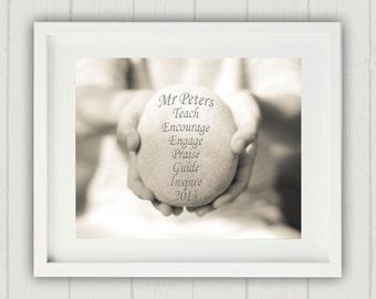 "Personalized Teacher Gift, Teacher Print, Personalized Teacher Print, Teacher Gift, Personalized Teacher Gift, 8x10"" Personalized Print"