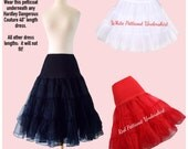 Made in the USA!  The Starlet Vintage Inspired Petticoat by Hardley Dangerous, Low Lift Rockabilly Petti-skirt, Misses & Plus Sizes