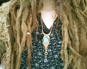 Key to the Heart magical Labraorite Tribal Gipsy Boho Bohemian Jewelry Healing Stone Collier