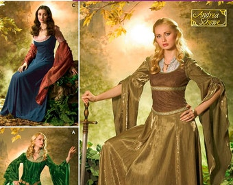 4940 Simplicity, Womens Medieval, Renaissance Gown, Medieval Joan of Arc Juliet Shakespeare, Lord of the Rings