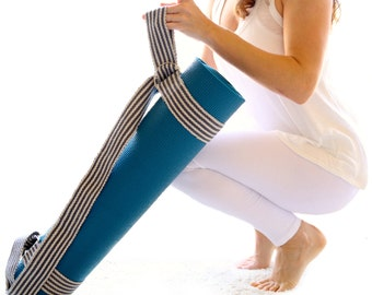 Yoga Mat Sling - Handwoven Cotton - Fully Adjustable