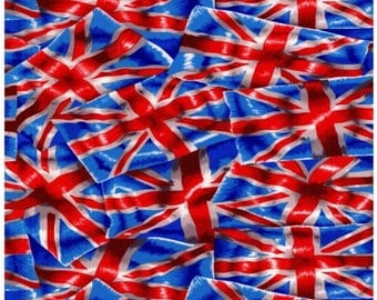 Patchwork Quilting Fabric Nutex Union Jack Allover Flag