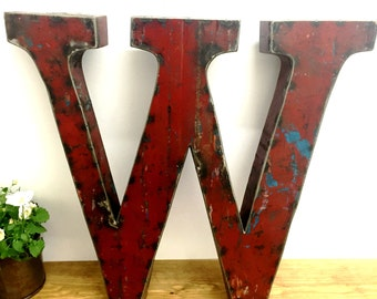 Large Metal Letter W