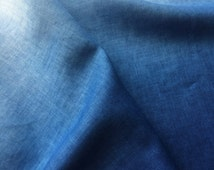Indigo Dyed Linen Fabric