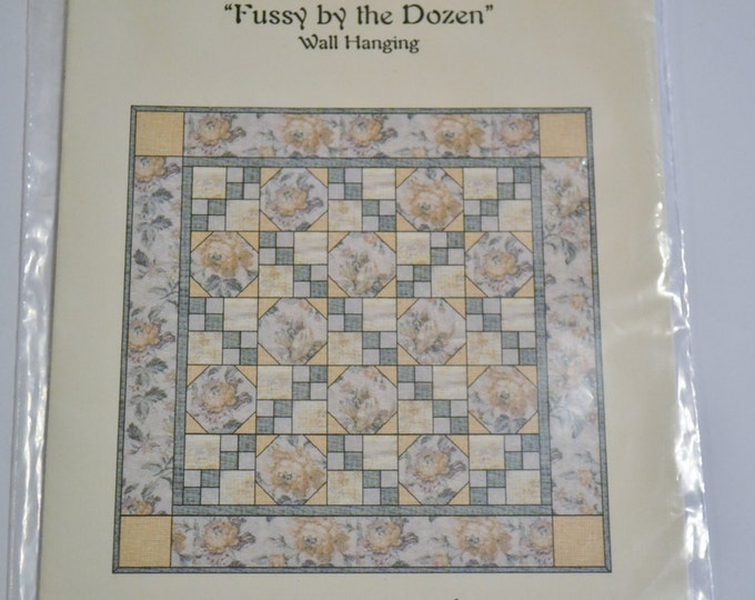 Fussy by the Dozen Quilt Pattern Julies Creations Sewing Quilting PanchosPorch