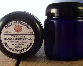 Every Day Cream - Natural Hand Lotion / Body Lotion / Hand Cream / Body Cream