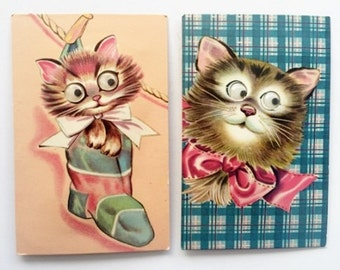 Vintage Cat Postcards Novelty Kitsch Kittens