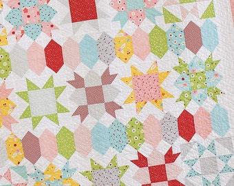 """Sweet Stars by She Quilts A Lot, measures 57"""" x 63"""""""
