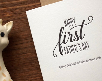 First Father's Day Card- Letterpress