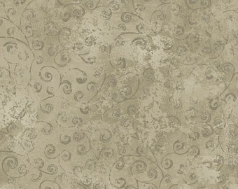 One Yard Quilting Temptations - Blender in Putty - Cotton Quilt Fabric - Quilting Treasures - 22542-KE (W3222)