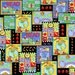 One Yard Learning is Fun! - Patch in Multi - Cotton Quilt Fabric - by Kimberly Montgomery for Quilting Treasures - 23450-X (W3173)