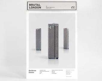 Brutal London  / BARBICAN ESTATE / Brutalist paper cut-outs