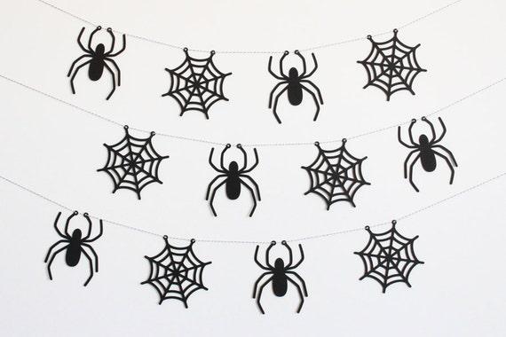 Spider garland banner